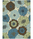 RugStudio presents Nourison Home and Garden RS-021 Light Blue Machine Woven, Good Quality Area Rug