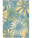 RugStudio presents Nourison Home and Garden RS-022 Blue Machine Woven, Good Quality Area Rug