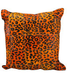 RugStudio presents Nourison Pillows Natural Leather Hide S1500 Orange