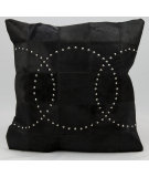 RugStudio presents Nourison Pillows Natural Leather Hide S1639 Black