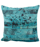RugStudio presents Nourison Pillows Natural Leather Hide S1975 Aqua - Green