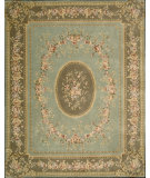RugStudio presents Nourison Chateau Provence SB-10 Aqua Hand-Tufted, Best Quality Area Rug