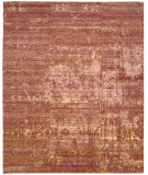 RugStudio presents Nourison Silk Shadows Sha10 Flame Hand-Knotted, Best Quality Area Rug