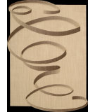 RugStudio presents Nourison Silhouettes SIL-01 Beige Machine Woven, Good Quality Area Rug