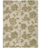 RugStudio presents Rugstudio Sample Sale 32693R Ivory-Green Hand-Tufted, Better Quality Area Rug
