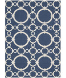 RugStudio presents Nourison Waverly Sun & Shade Snd02 Navy Machine Woven, Good Quality Area Rug