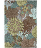 RugStudio presents Nourison South Beach Sou07 Aqua Brown Hand-Hooked Area Rug