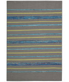 RugStudio presents Nourison Spectrum Spe04 Grey Turquoise Woven Area Rug