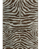 RugStudio presents Nourison Splendor SPL-17 Aqua-Brown Machine Woven, Good Quality Area Rug