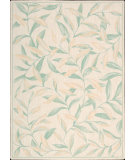 RugStudio presents Nourison Seasons SS-23 Ivory-Green Machine Woven, Good Quality Area Rug