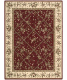 RugStudio presents Nourison Somerset ST-57 Burgundy Machine Woven, Good Quality Area Rug