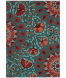 RugStudio presents Nourison Suzani Suz02 Teal Hand-Tufted, Best Quality Area Rug