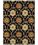 RugStudio presents Nourison Suzani Suz03 Black Hand-Tufted, Best Quality Area Rug