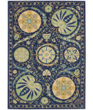 RugStudio presents Nourison Suzani Suz04 Blue Hand-Tufted, Best Quality Area Rug
