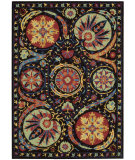 RugStudio presents Nourison Suzani Suz04 Black Hand-Tufted, Best Quality Area Rug