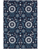 RugStudio presents Nourison Suzani Suz07 Navy Hand-Tufted, Best Quality Area Rug