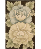 RugStudio presents Nourison Tropics TS-09 Brown Hand-Tufted, Best Quality Area Rug