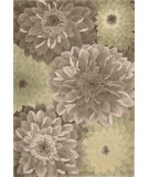 RugStudio presents Nourison Tropics TS-11 Taupe-Green Hand-Tufted, Best Quality Area Rug