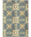 RugStudio presents Nourison Vista Vis01 Blue Gold Machine Woven, Good Quality Area Rug