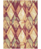 RugStudio presents Nourison Vista Vis04 Gold Ruby Machine Woven, Good Quality Area Rug