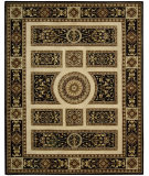 RugStudio presents Nourison Versailles Palace VP-21 Ivory-Black Hand-Tufted, Best Quality Area Rug