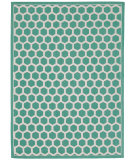 RugStudio presents Nourison Art House Wah25 Teal Flat-Woven Area Rug