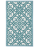 RugStudio presents Nourison Fancy Free Wff28 Teal Flat-Woven Area Rug