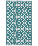 RugStudio presents Nourison Fancy Free Wff30 Teal Flat-Woven Area Rug