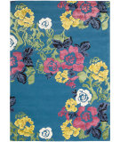 RugStudio presents Nourison Wildflowers Wil02 Turquoise Hand-Tufted, Best Quality Area Rug
