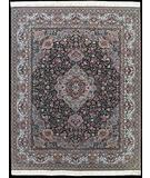 RugStudio presents Nourison Royalty KC-27 Black Hand-Knotted, Good Quality Area Rug