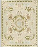 RugStudio presents Nourison Bijoux MH48 Light Green Hand-Hooked Area Rug