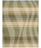 RugStudio presents Nourison Elements ELE-04 Sage-Brown Machine Woven, Good Quality Area Rug