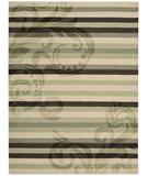RugStudio presents Nourison Elements ELE-05 Green-Brown Machine Woven, Good Quality Area Rug