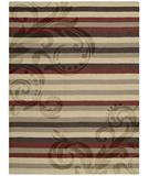 RugStudio presents Nourison Elements ELE-05 Red-Brown Machine Woven, Good Quality Area Rug