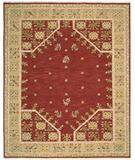 RugStudio presents Nourison Suf-I-Noor SF-35 Red Hand-Knotted, Better Quality Area Rug