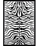 RugStudio presents Nuloom Machine Made Bold Zebra Black & White Machine Woven, Good Quality Area Rug