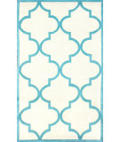 RugStudio presents Nuloom Hand Tufted Contempo Trellis Aqua Hand-Tufted, Good Quality Area Rug