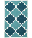 RugStudio presents Nuloom Hand Tufted Contempo Trellis Blue Hand-Tufted, Good Quality Area Rug