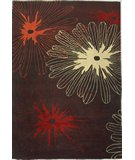 RugStudio presents Nuloom Cine Sunburst CACR12BRN Brown Hand-Tufted, Good Quality Area Rug