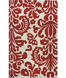 RugStudio presents Nuloom Cine Modern Scroll Red Hand-Tufted, Good Quality Area Rug