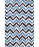 RugStudio presents Nuloom Hand Tufted Chevron Dolores Blue Hand-Tufted, Good Quality Area Rug