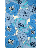 RugStudio presents Nuloom Hand Tufted Evelyn Blue Hand-Tufted, Good Quality Area Rug