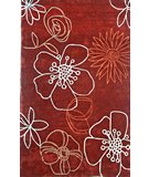 RugStudio presents Nuloom Cine Lillies Red Hand-Tufted, Good Quality Area Rug