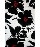 RugStudio presents Nuloom Cine Floral Symphony Black Hand-Tufted, Good Quality Area Rug