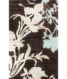 RugStudio presents Nuloom Cine Transitional Floral Brown Hand-Tufted, Good Quality Area Rug