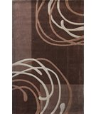 RugStudio presents Nuloom Cine Moon Brown Hand-Tufted, Good Quality Area Rug