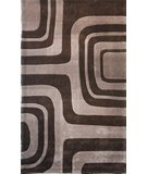 RugStudio presents Nuloom Cine Maze CACR3BRN Dark Chocolate Hand-Tufted, Good Quality Area Rug