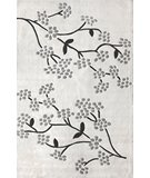 RugStudio presents Nuloom Cine Floral Vine Grey Hand-Tufted, Good Quality Area Rug