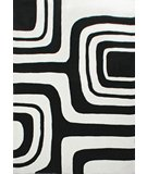 RugStudio presents Nuloom Cine Maze CACR3BLK Marshmallow Hand-Tufted, Good Quality Area Rug