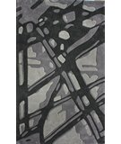 RugStudio presents Nuloom Cine Splatter Grey Hand-Tufted, Good Quality Area Rug